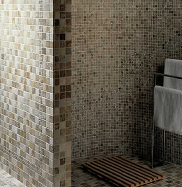 Mixed (Light/ Noce/ Yellow) Tumbled Travertine Mosaic