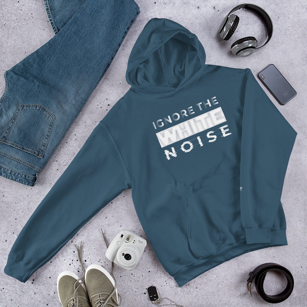 Ignore the White Noise Hooded Sweatshirt - honest rags