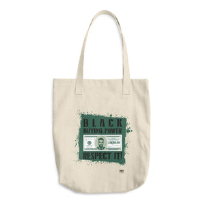 Black Buying Power Cotton Tote Bag - honest rags