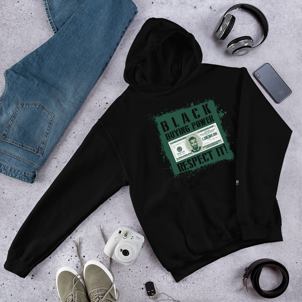 Black Buying Power Hooded Sweatshirt - honest rags