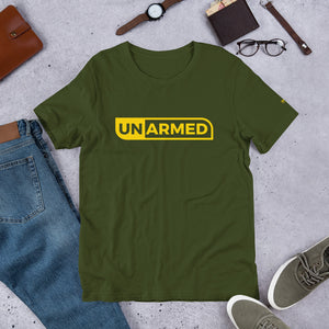 Unarmed Short-Sleeve Unisex T-Shirt - honest rags