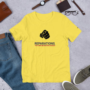 Reparations Short-Sleeve Unisex T-Shirt - honest rags