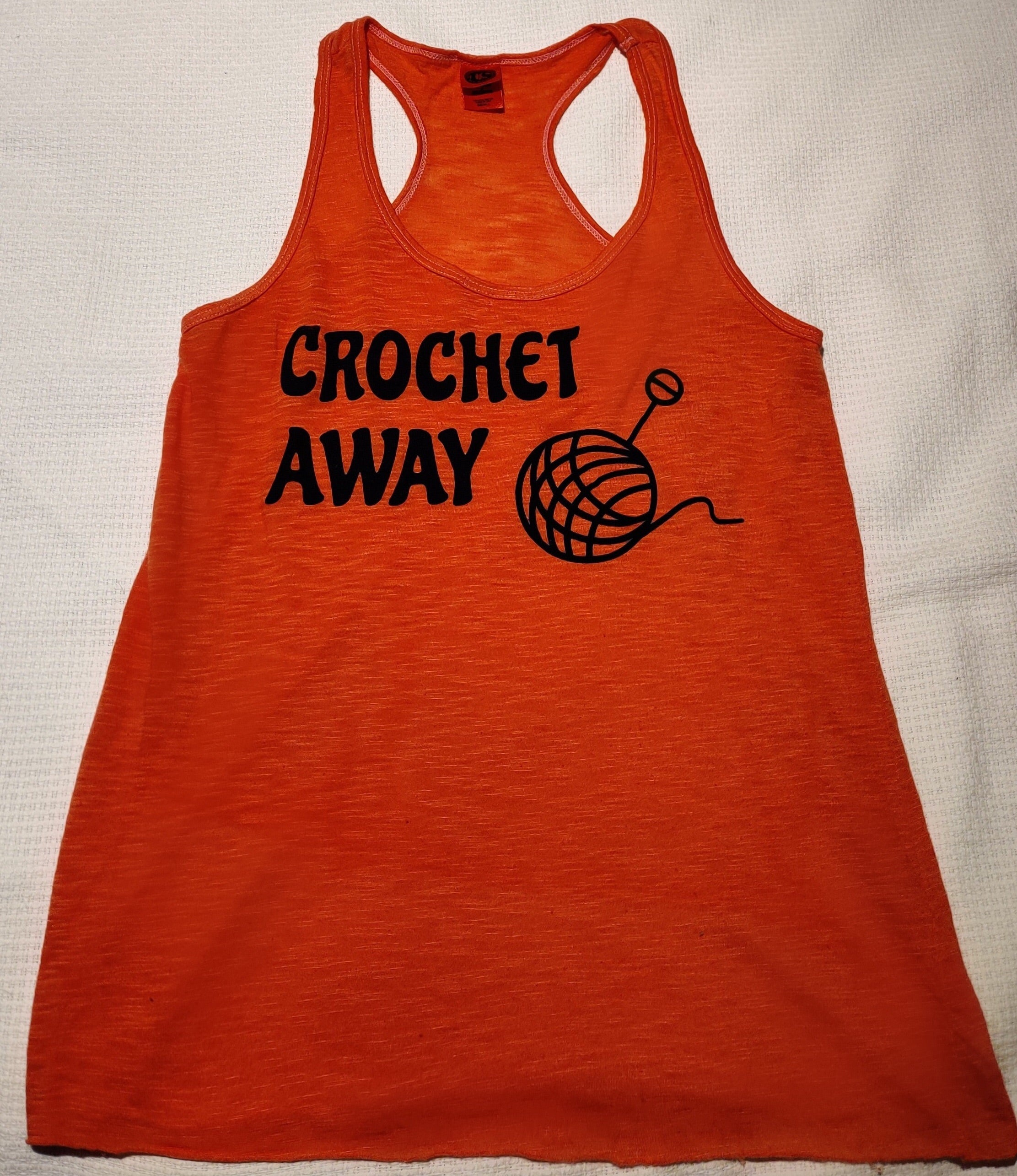 Crochet Away Tank Tee with Yarn/Hook