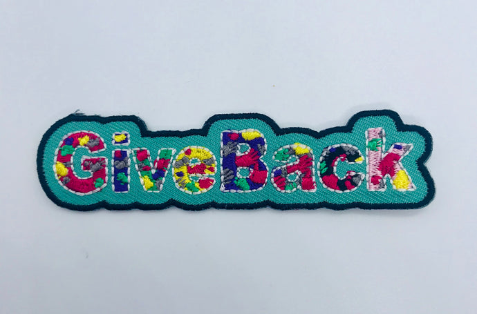 """Give Back"" Patch"