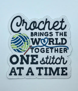 Crochet Brings The World Together Patch