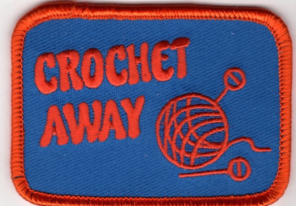 """Crochet Away"" Patch (Blue/Orange)"