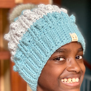 Handmade Chunky Hat with PomPom- several color options (100% Merino Wool)