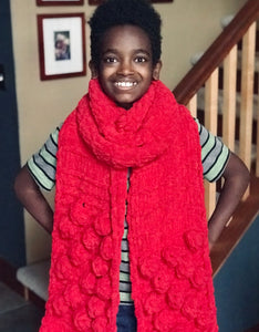 Handmade Bobble Super Scarf (3 color options)