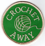 """Crochet Away"" Patch (Green)"