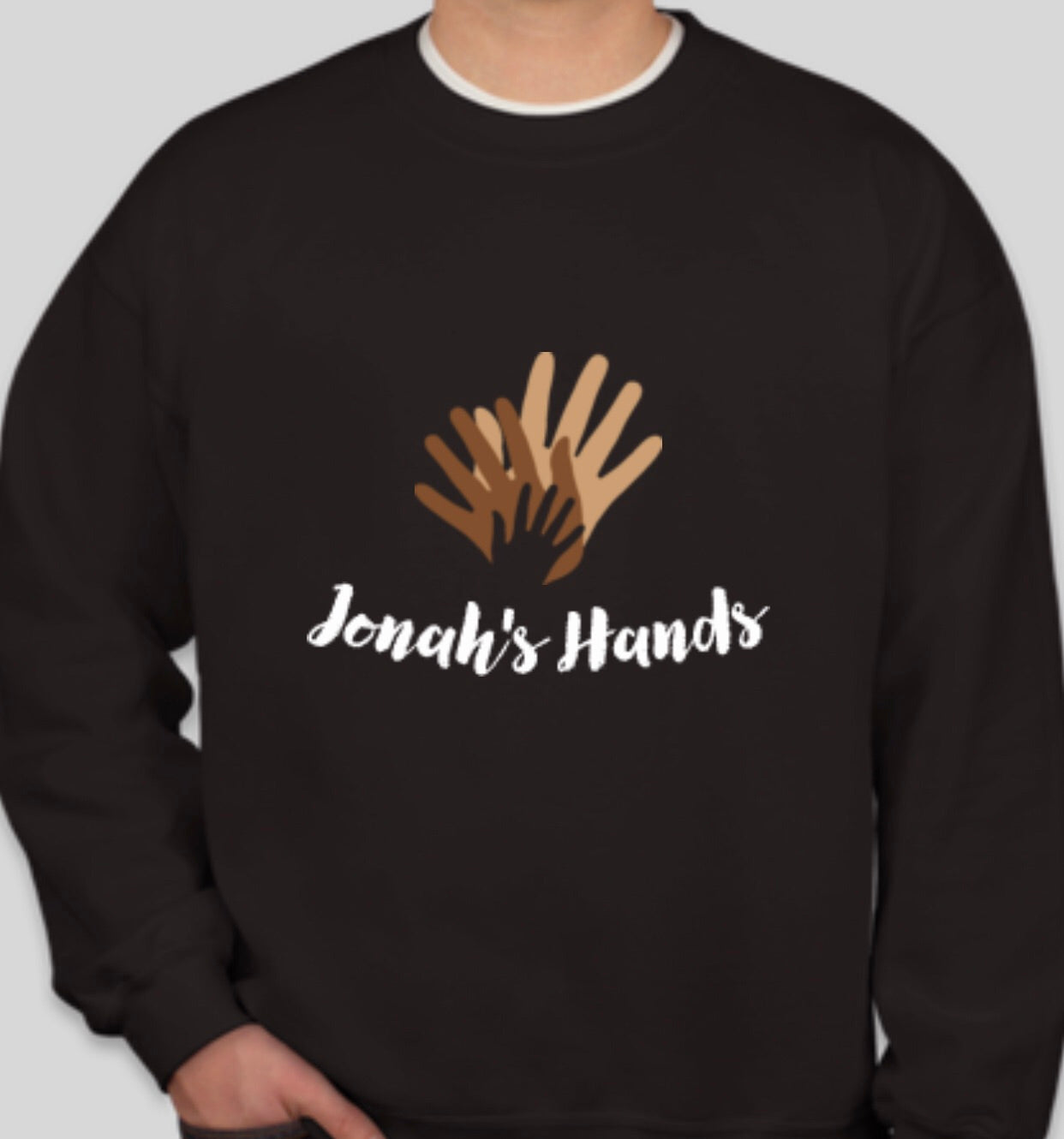 Jonah's Hands Crewneck Sweatshirt, Unisex (4 colors)