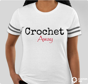 Crochet Away Ringer Tee, Women's & Unisex (5 color options)