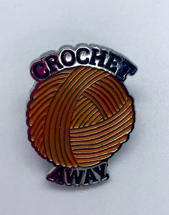 """Crochet Away"" Collectible Enamel Pin"