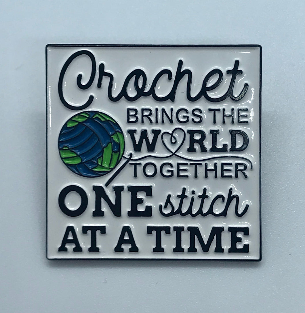 Crochet Brings The World Together Pin