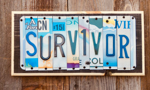 Survivor License Plate Sign