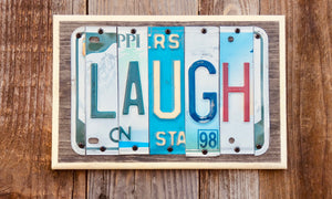 Laugh License Plate Sign