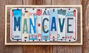 Man Cave License Plate Sign