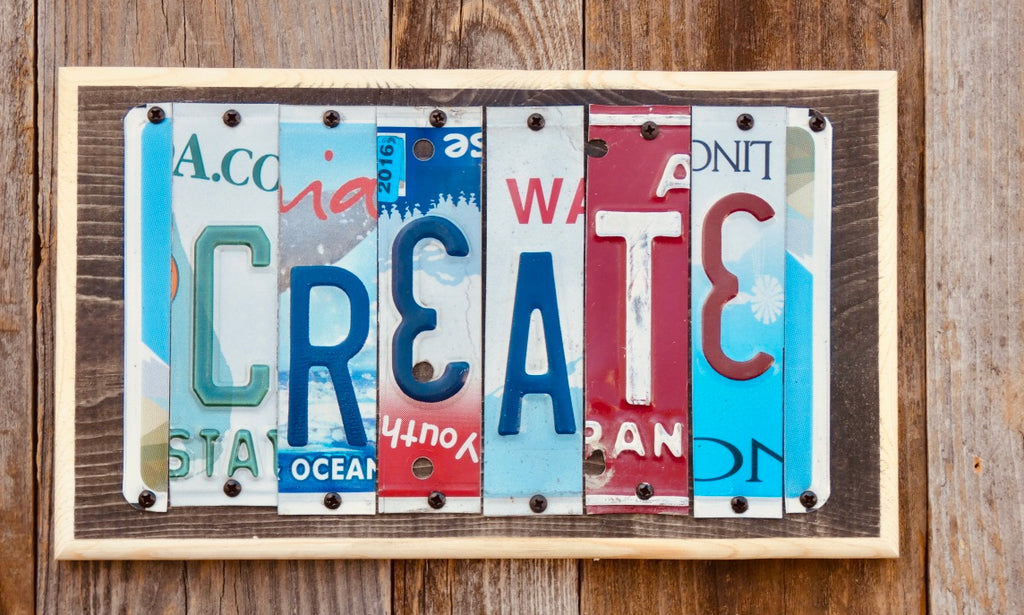 Create License Plate Sign