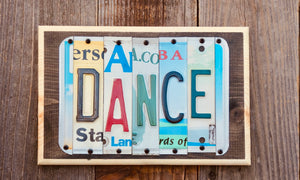 Dance License Plate Sign
