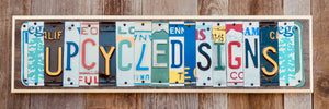 Personalized License Plate Sign