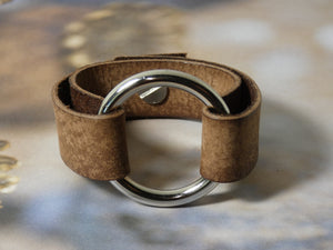 Leather Circle Bracelet, Unisex Bracelet in multiple colors and sizes