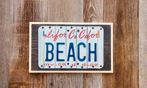 Beach License Plate Sign