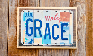 Grace License Plate Sign