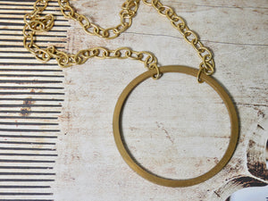 Circle Necklace • Brass Large Infinity Pendant