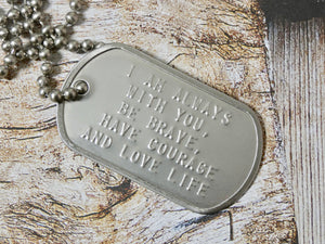 Dog Tag Quote Necklace