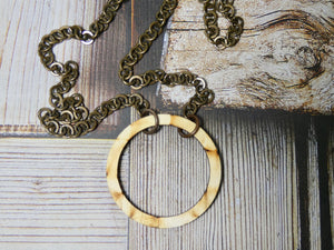 Wooden Circle Necklace, Small Natural Birch Infinity Necklace