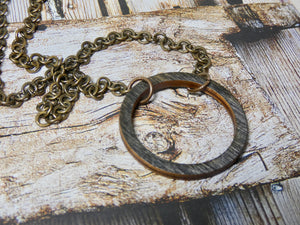 Wooden Circle Necklace, Small Ebony Birch Infinity Necklace