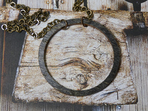 Wooden Circle Necklace, Large Ebony Birch Infinity Necklace