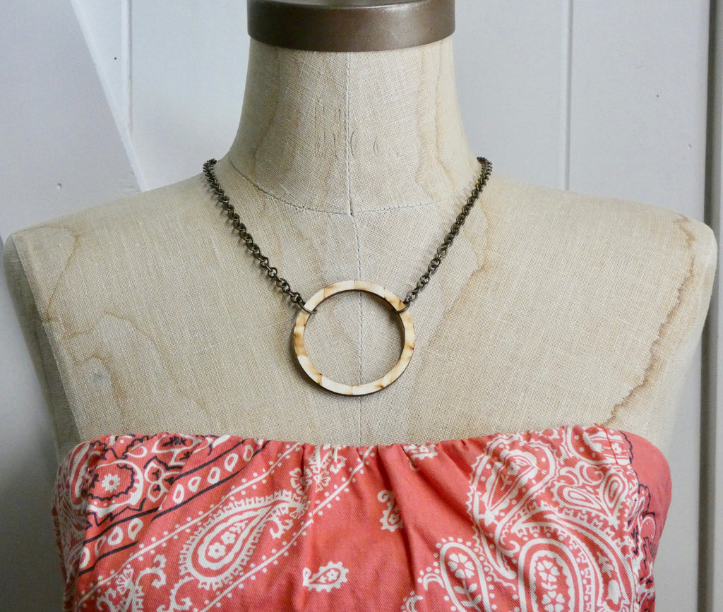 Wooden Circle Necklace
