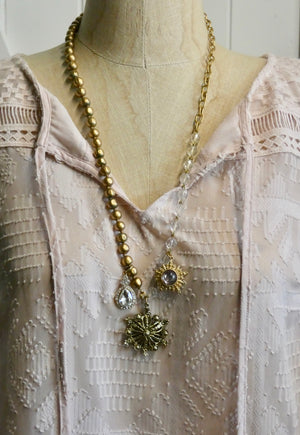 One of a Kind Vintage Eclectic Charm Necklace