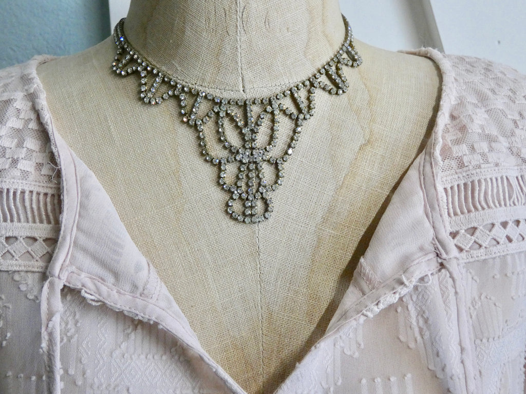 One of a Kind Vintage Rhinestone Necklace