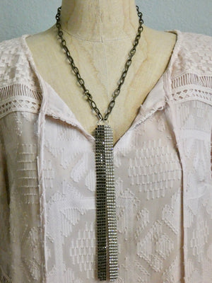One of a Kind Vintage Rhinestone Lariat Necklace