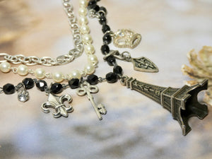 One of a Kind Paris Inspired Multi strand Necklace