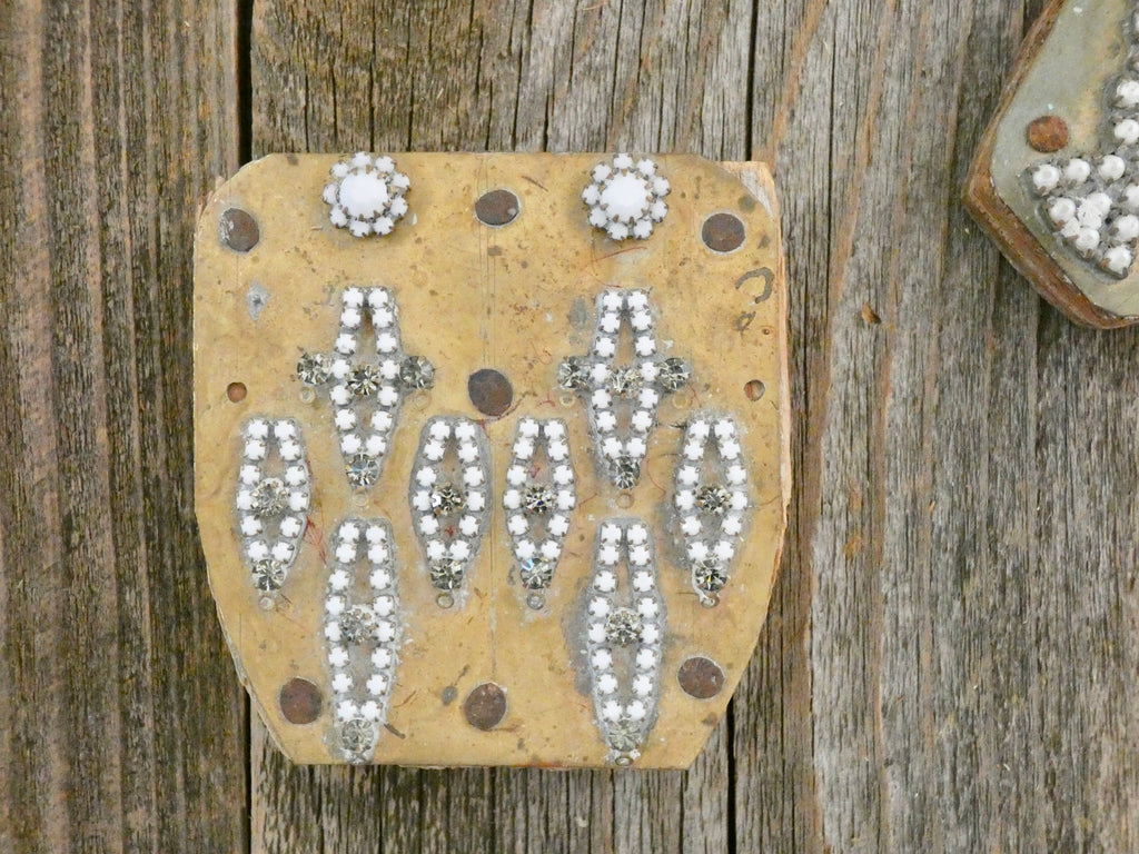 One of a Kind Rare Found Object, Unique Vintage Decor, Rhinestone jewelry pieces