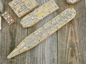 Unique Vintage Decor, One of a Kind Rare Found Object, Rhinestone jewelry pieces