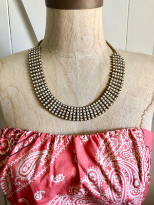 Vintage Pearl Necklace, One of a Kind rare piece, Can also be a choker