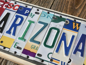 Arizona License Plate Sign - Upcycled Works