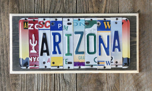 Arizona License Plate Sign