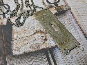One of a Kind Vintage Key Hole Necklace, rare find