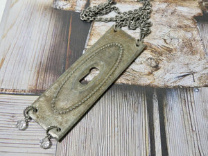 One of a Kind Vintage Key Hole Necklace