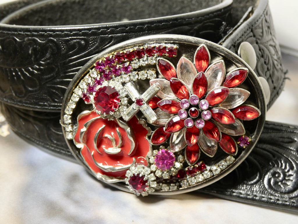 Belt Buckle, One of a Kind Assemblage Belt Buckle