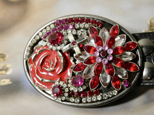 Belt Buckle, One of a Kind Assemblage Belt Buckle - Upcycled Works