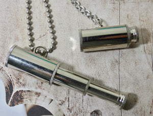 Telescope Necklace, Silver Looking Glass Necklace