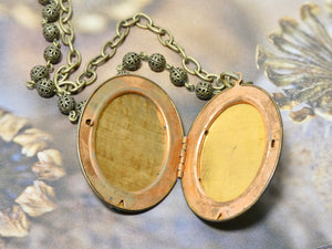 Vintage Cross Locket Necklace