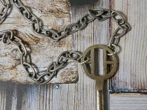 Vintage Skeleton Key Necklace, Unique Silver Key