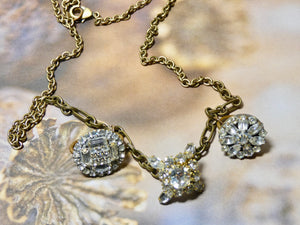 One of a Kind Vintage Ring Assemblage Necklace