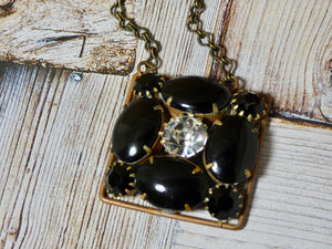 One of a Kind Vintage Necklace, Repurposed Brooch Pendant